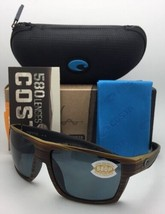 Polarisierend Costa Sonnenbrille Kerl Blk 103 Verde Teak auf Schwarz mit... - $210.43
