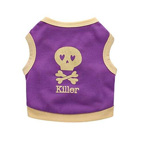 PANDA SUPERSTORE Multi-Color Puppies Dresses Simple Design Pets Vest Style Appar