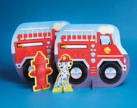 Firefighter Fire Man Party Centerpiece - Birthday Party Supplies - $7.21