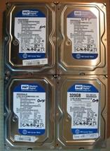 "Lot of 4 Western Digital SATA 3.5"" 320GB Internal Desktop Hard Drive - $37.04"