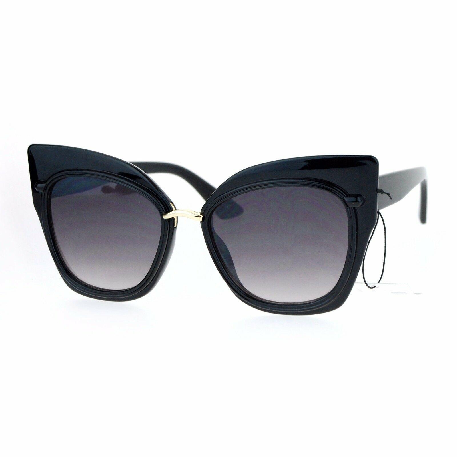 Oversized Fashion Sunglasses Womens Square Cateye Butterfly UV 400 image 5