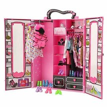 BARWA Fashion Closet Wardrobe 42 Pcs Doll Clothes Sets for 11.5 inch Dol... - $68.30
