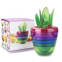 Fruit Salad Cutter Citrus Juicer Grinder Kitchen Gadget Flower Pot 10 in... - ₨2,068.11 INR