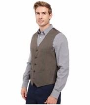 Perry Ellis - Regular Fit Pattern Twill Suit Vest (Chinchilla) Men's Vest $70 image 2