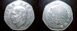 1976 Mexican 10 Peso World Coin - Mexico - Costilla - $1.99