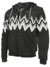 EKZ Men's Graphic Geo Tribal Fleece Lined Zip Up Sherpa Hoodie Jacket image 14