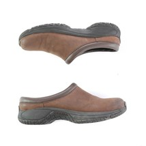 Merrell Encore Groove Brown Nubuck Leather Mules Slip On Comfort Shoes W... - $39.44