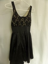 JUNIORS FOREVER 21 SZ SMALL BLACK SLEEVELESS DRESS LACE - $14.00