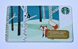 Starbucks Holiday 2014 FOX BRICH TREES WOODPECKER BIRD $0 Value Gift Car... - $7.99