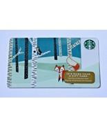 Starbucks Holiday 2014 FOX BRICH TREES WOODPECKER BIRD $0 Value Gift Card New - $7.99