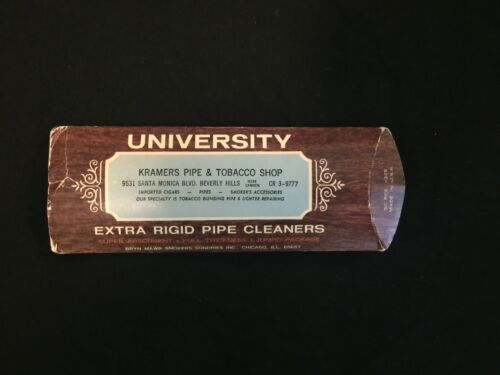 Vintage University Extra Rigid Pipe Cleaners Empty Box Container USA Kramers