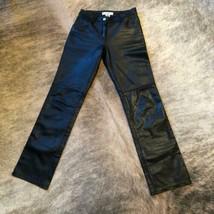 NWT A/X ARMANI EXCHANGE Black Leather 5 Pocket Jeans SZ 0 - $147.51