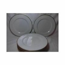 Set of 6 PORCELAIN DINNER PLATES Crown Sword Mark austria gold pink dot ... - $35.63