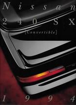 1994 Nissan 240SX CONVERTIBLE brochure catalog US 94 Silvia - $10.00