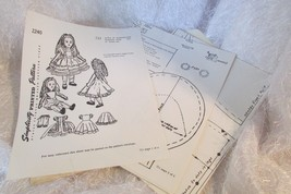 "Simplicity 2240 Alice In Wonderland 711 18"" Doll & Clothes - Photocopy - $5.00"