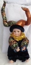 Jester Baby Doll Porcelain Head, Legs and Arms with bells on hat - $10.93