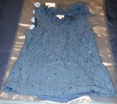 Merona Women Size Small Blue Sleeveless Knit Blouse - $12.86