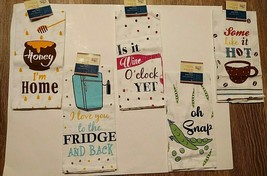Set Of 2 Home Collection Whimsical Flour Sack Towels: Choose 1 From 5 Di... - $6.00