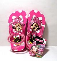 NEW Minnie Mouse Flip Flops Sandals TODDLER Size MEDIUM 7 8 Pink KN153 - $14.75