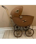 Antique Wicker Baby Doll Buggy Carriage Stroller Original Condition 19-1507 - $132.95