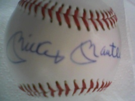 Mickey Mantle Autographed Picture Baseball - $300.00