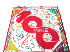Coca-Cola  100th Anniversary Centennial Celebration Scarf- UNIQUE ITEM - $24.74