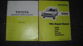 1984 Toyota Starlet Service Shop Repair Manual Set FEO W Wiring Diagrams FEO - $32.87