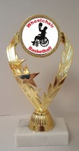 "Wheelchair Basketball Trophy 7-1/4"" Tall LOW AS $3.99 ea. FREE SHIPPING T02N9  - $7.99+"
