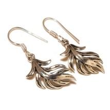 Premier Designs Leaf 925 Silver Overlay Handmade Modern Artisan Lovely E... - $6.99