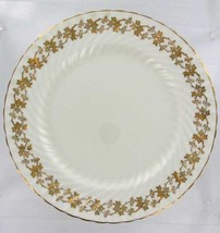 VINTAGE AYNSLEY BONE CHINA GILT IVY FLORAL GOLD  SWIRL DINNER PLATE 1950's - $26.99