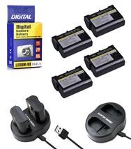 4 EN EL15 Batteries+Charger for Nikon DSLR D7200-D7100-D7000-D810-D800-D750-D610 - $37.99