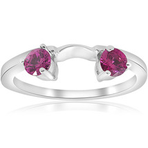 1/2ct Ruby Wrap Wedding Engagement Ring 14K White Gold - $249.00