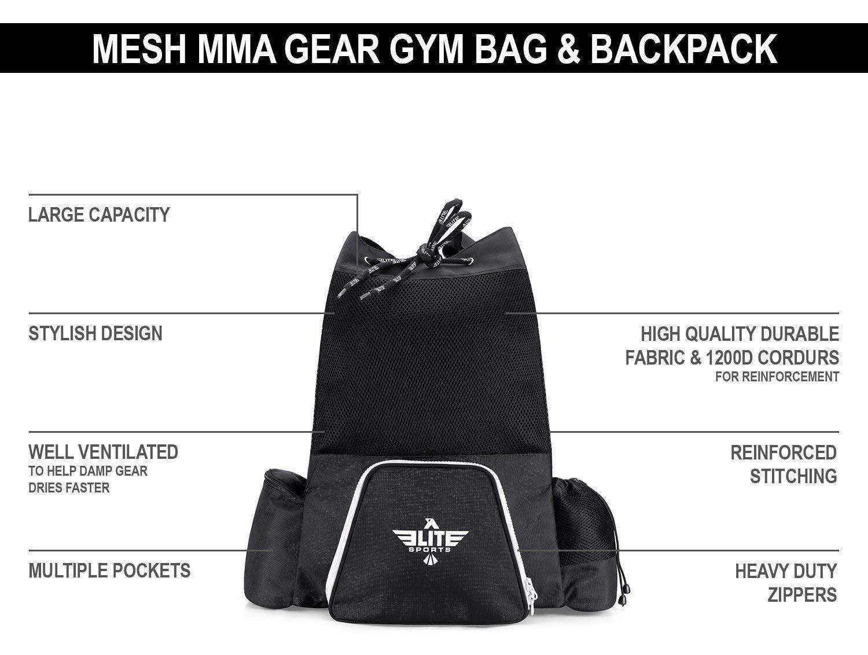 17702bd055ca ... Elite Sports Mesh Gear Gym Backpack