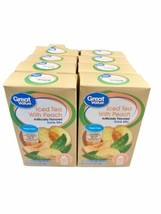 8 Boxes Of Great Value Decaffeinated Iced Tea with Peach Drink Mix 8 (80... - $21.19