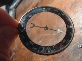 Vintage 2 Sided Convex Glass Made in Japan Pocket Field Compass Mid Century - $40.00