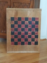 vintage/antique LARGE OLD WOOD CUTTING BOARD CHECKER GAME BOARD chess AA... - $275.00