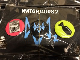 Lot Of 10 Watch Dogs 2 Pins Collectible Buttons Game Logo Ubisoft Promo - $19.79
