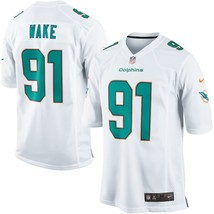 Youth Miami Dolphins #91 Cameron Wake White Team Color Game Stitched Jersey - $54.99
