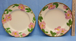 Set of 2 Vintage Franciscan Earthenware Desert Rose Dinner Plates USA / ... - $19.79