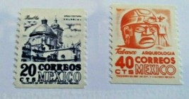 Mexico.Scott's #s 1003-4. MNH. Coil Stamps. sal's stamp store. - $4.49