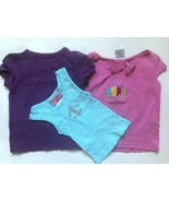 """Lot of 3 Girl's Size 3T Years Pink Floral """"Surf"""" K.C. Top, Purple Top, T... - $9.00"""