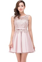 Women's Elegant Sleeveless Lace Prom Dresses Short Cocktail Homecoming Dress - $99.99