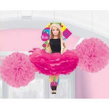 Barbie Sparkle Fluffy Hanging Decorations (Pack of 3) - FREE Shipping - €8,85 EUR