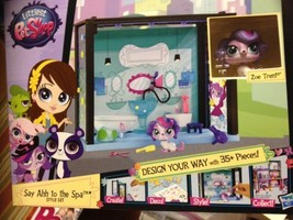 NEW! LITTLEST PET SHOP SCENE (Say Ahh to Spa) with ZOE TRENT Sweet Puppy... - $428,30 MXN