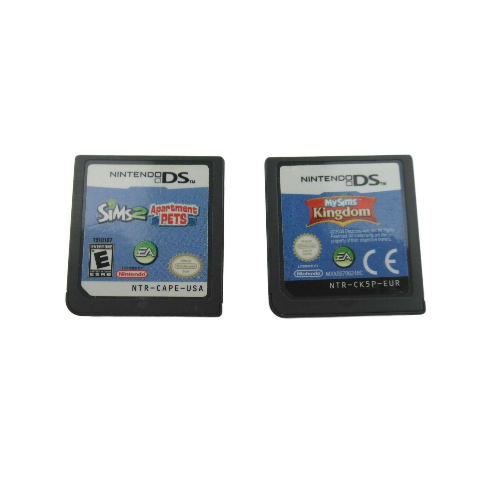 Primary image for Nintendo DS Sims 2 Apartment Pets & MY Sims Kingdom Game LOT Cartridges ONLY