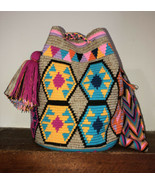 Authentic 100% Wayuu Mochila Colombian Bag Large Size 10 Colors Matizada... - £72.67 GBP