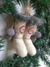 Inuit Eskimo Boots Christmas Tree Ornament Holiday - $9.75