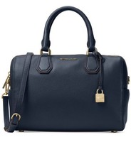 NWT MICHAEL KORS STUDIO MERCER MEDIUM LEATHER DUFFEL SATCHEL ADMIRAL NAV... - $144.91