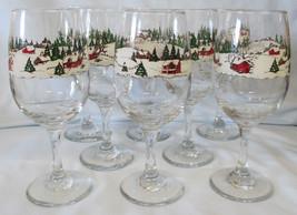 Libbey Winter Village Wine Stem 10 oz Set of 8 - $48.40