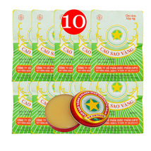 4g x 10 Boxes  Vietnam Golden Star Balm, Aromat... - $5.99